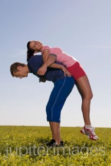To get your man to work out, make exercise fun.