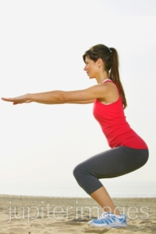 There are many ways to get your thighs in shape, like squats.